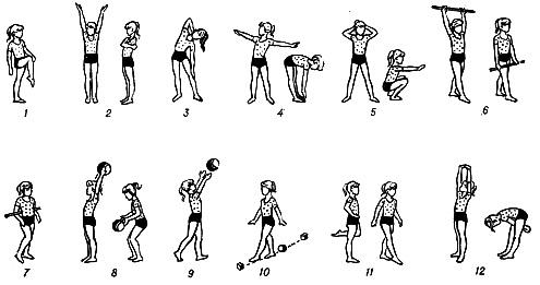 Примерный комплекс упражнений зарядки для детей дошкольного возраста