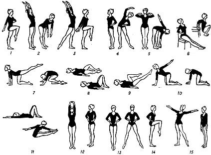 Примерный комплекс упражнений зарядки для женщин