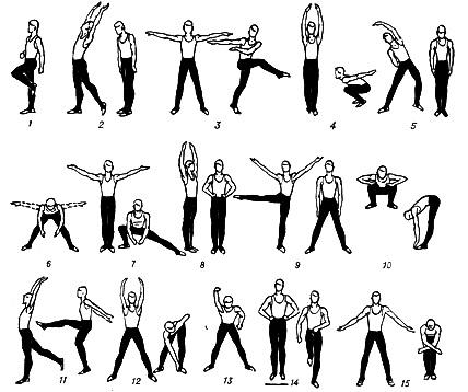 Примерный комплекс упражнений зарядки для мужчин