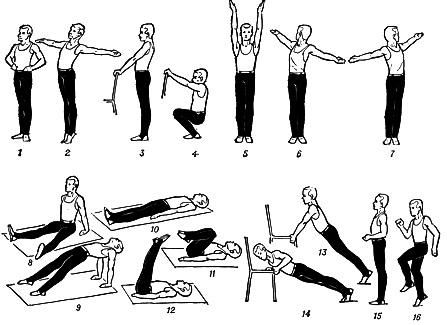Примерный комплекс упражнений зарядка для мужчин пожилого возраста